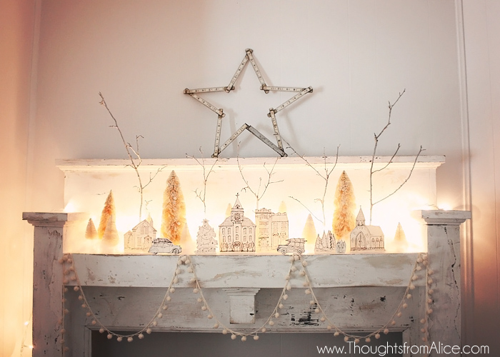 DIY Printable Christmas Village {Anthropologie Inspired}