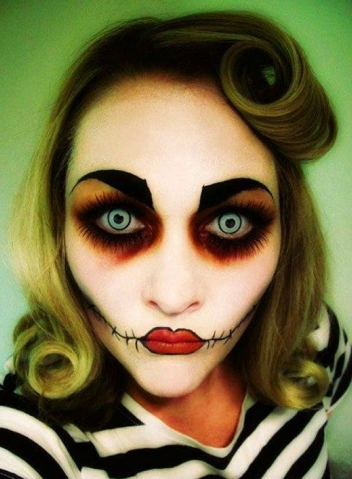 rostros espeluznantes para halloween