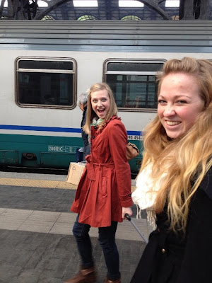 Getting off the train at Milan - Stazione Centrale