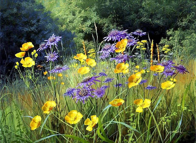 полевые цветы на картинах художников страховку