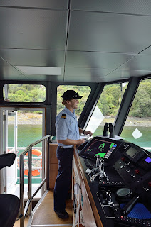Captain Blake on the M.V. Sinbad on Milford Sound