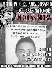 Mitin por el aniversario del asesinato de Nicolás Neira