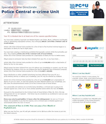 Metropolitan Police E Crime Unit Virus