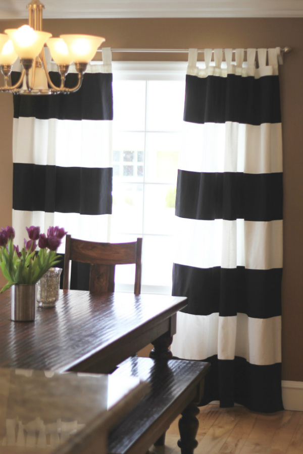 black and white striped curtains 84 black and white