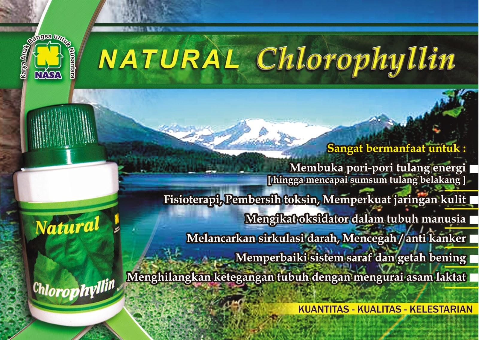 natural chlorophyllin, ncp nasa, natural chlorophyllin, herbal natural chlorophyllin, distributor natural chlorophyllin, toko kasimura, kasimura herbal, nasa jogjakarta, natural chlorophyllin jogja
