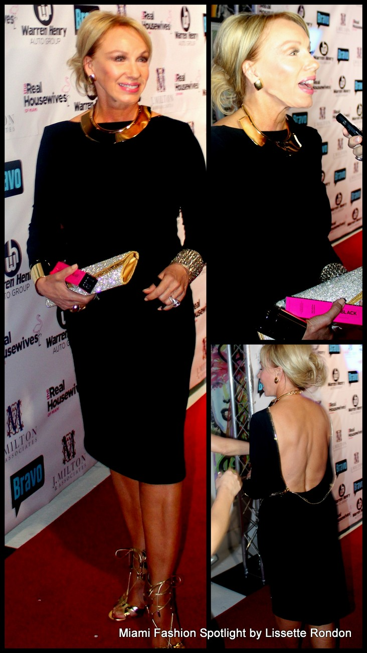 Lea Black attending the 'Real Housewives of Miami' season 3 premier party.
