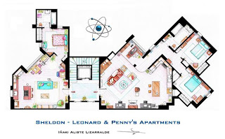 The getting spot big bang theory show floor plans Two and a half men house plan