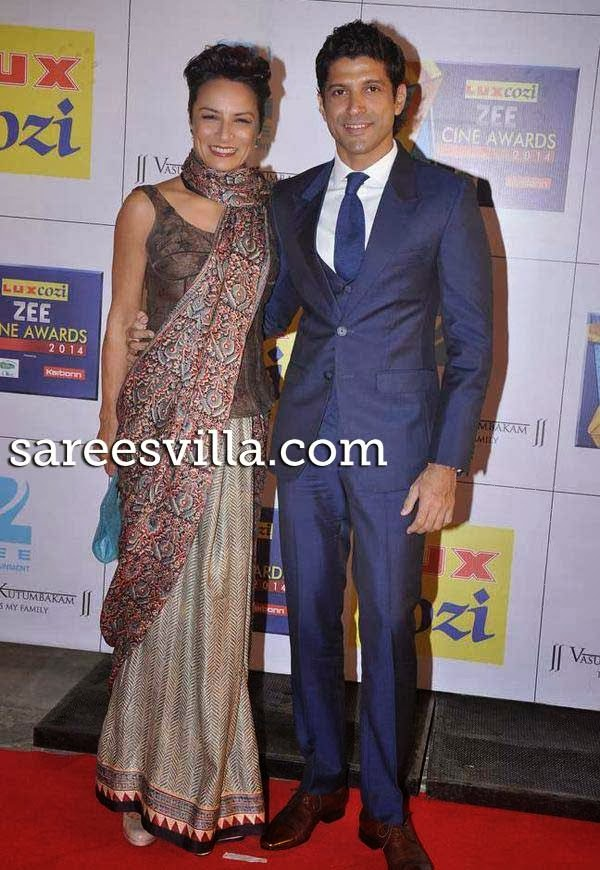 Farhan Akhtar and his wife Adhuna Akthar