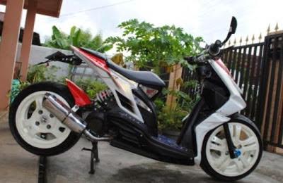 Modifikasi Honda Beat Injeksi Merah Putih : MODIFIKASI MOTOR