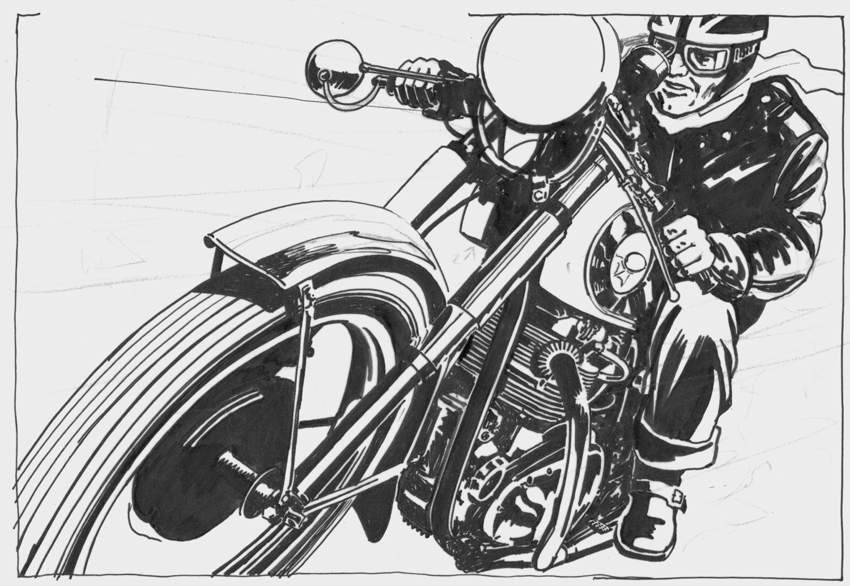 The Cafe Racer Illustrations By Brett Breckon