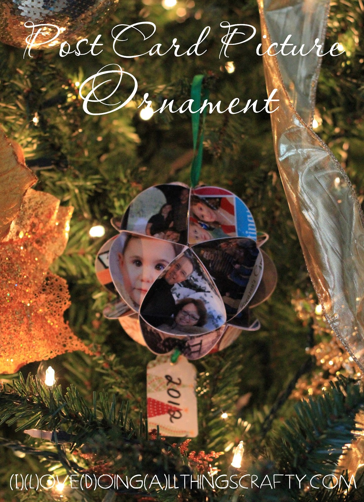 I Love Doing All Things Crafty: DIY Yearly Christmas Post Card Ornament