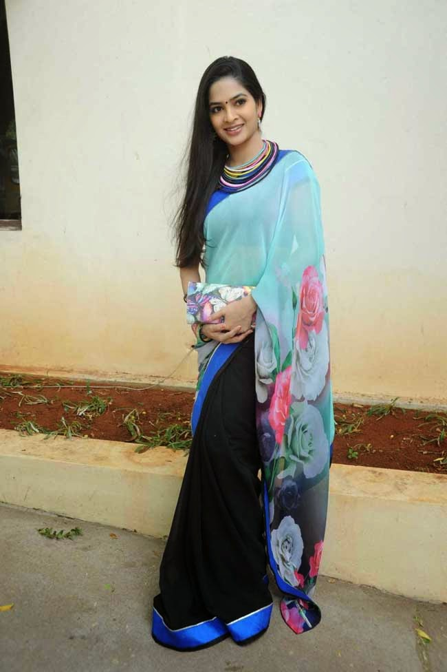 Actress Madhumitha In Half and Half Saree