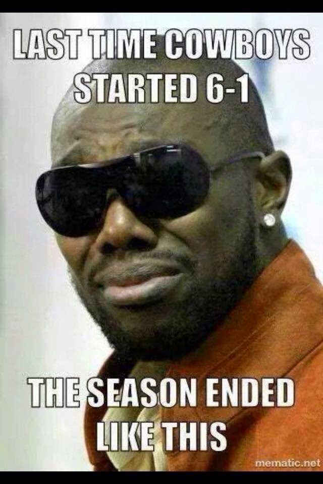 last time cowboys started 6-1 the season ended like this