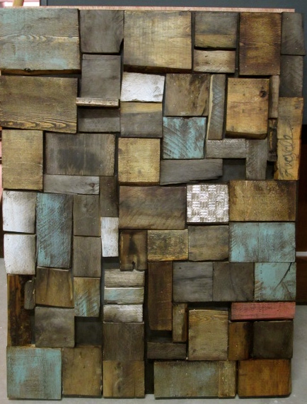 Cuadro art stico hecho de palets - Cuadros con palets ...
