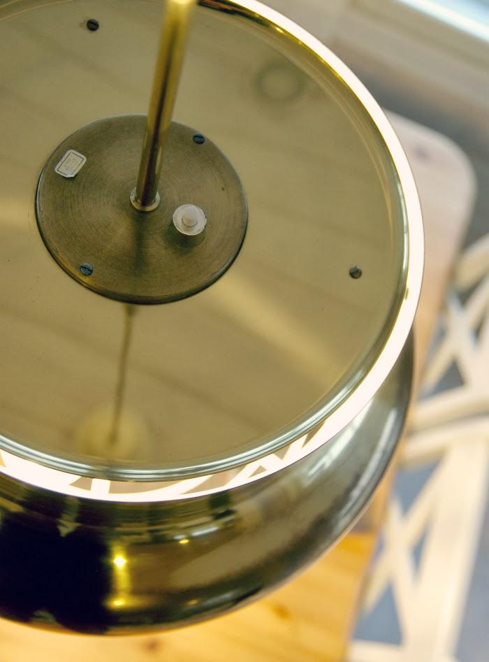 messinki, mässing, design lamp