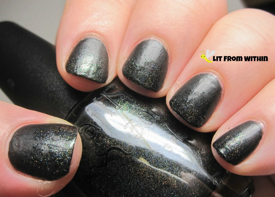 satin black turns into holo with that green flash