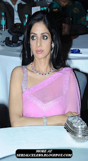 SriDevi in transparent saree