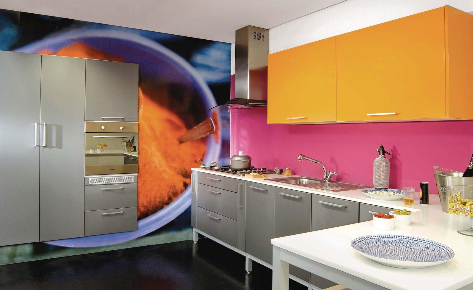 Wibamp Com Cozinha Moderna Pequena Colorida Id Ias Do Projeto Da