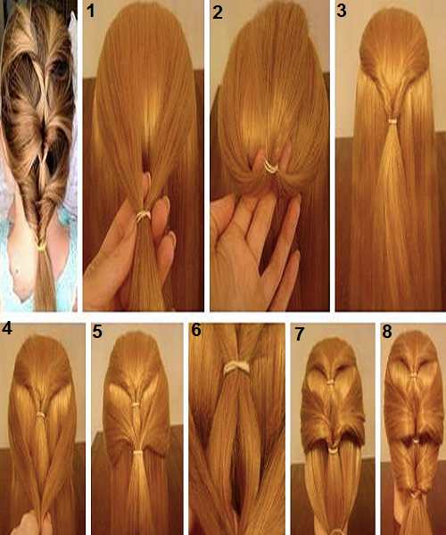 New Best Quick and Simple Hair Style pics Tutorial Part 2 ~ Pak ...