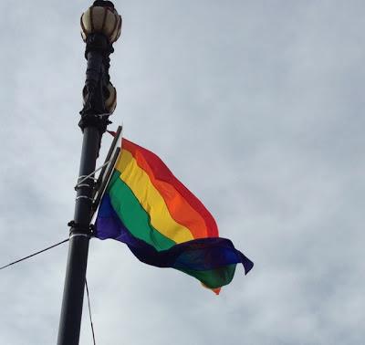LGBT Pride rainbow flag in San Francisco