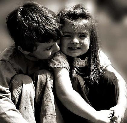 Los besos sin miedo amor como los de los niños
