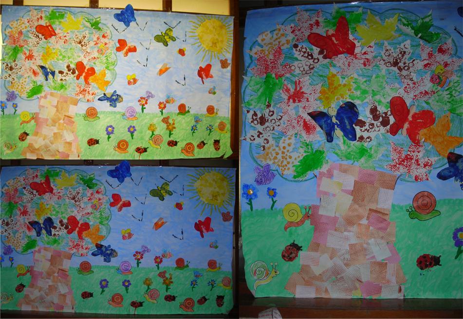 Tu sonrisa mi ilusi n el otro mural de la primavera for Como pintar un mural infantil