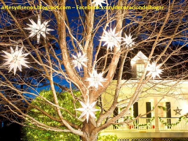 AMBIENTES CON LUCES DE ESTRELLAS NAVIDEÑAS by artesydisenos.blogspot.com