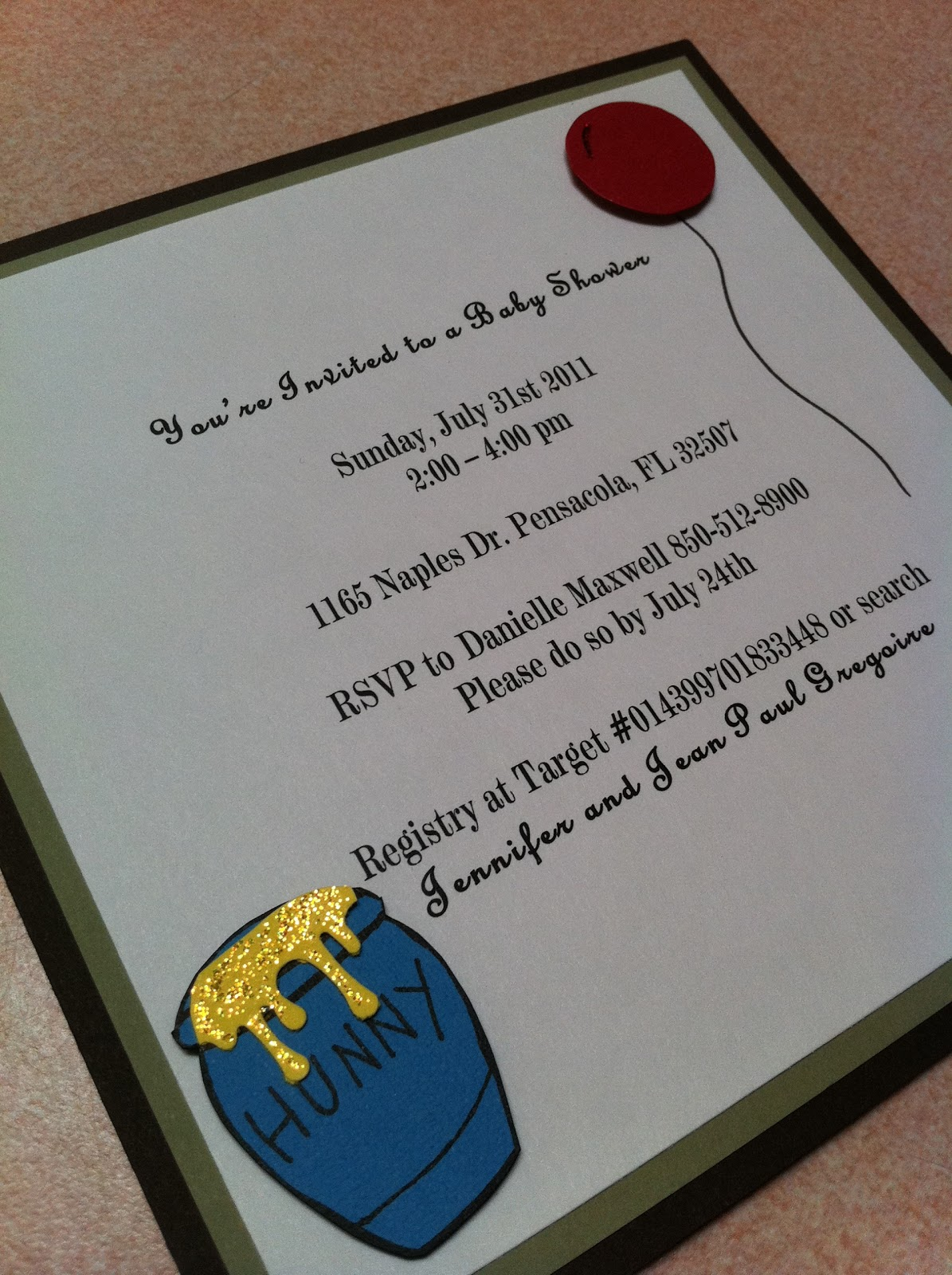 Classic Winnie The Pooh Baby Shower Invitations is the best ideas you have to choose for invitation example
