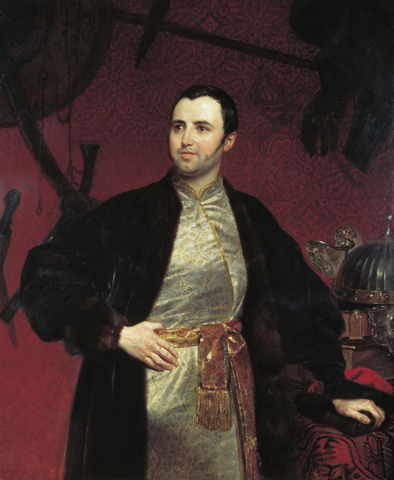 Karl   riullov  Portrait  of  the  Prince  Mikhail  Andreevich  Obolenskiy C