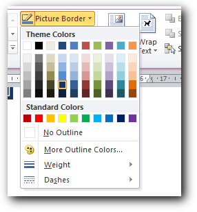Merubah warna garis border di ms word