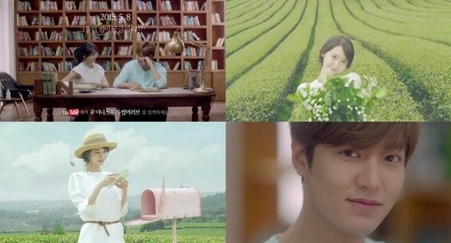 李敏鎬、潤娥合作代言拍廣告!講悄悄話超甜蜜!
