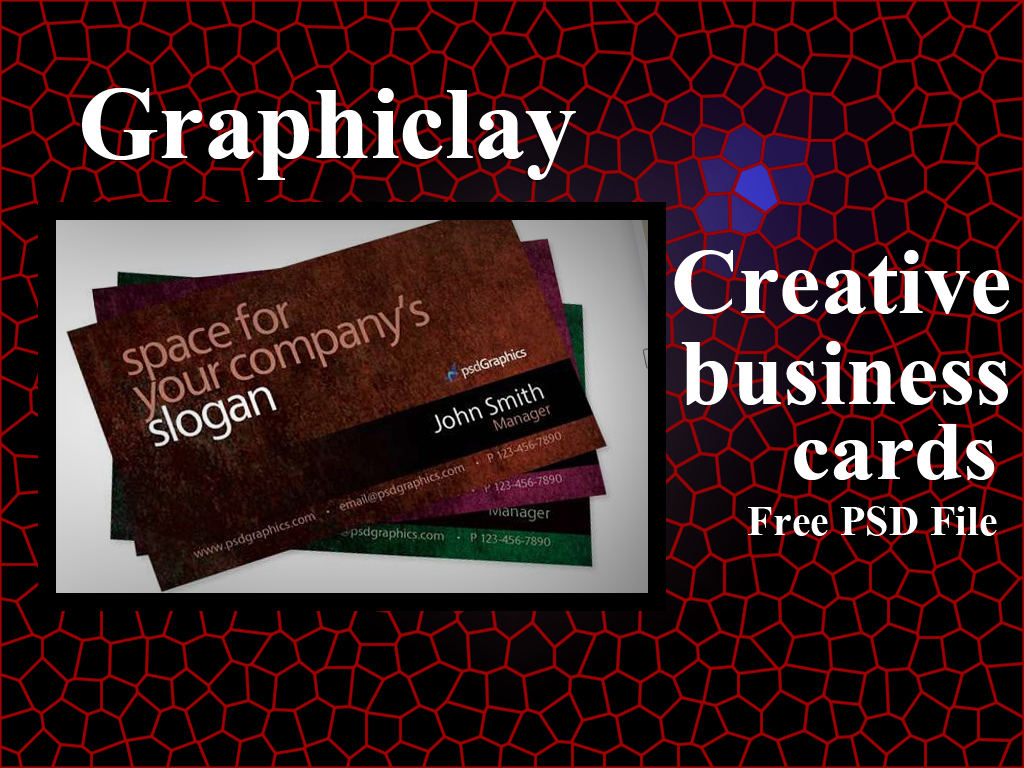 Top 10 stylish creative business cards psd file graphiclay this is a grunge business card photoshop template card photoshop template with a nice grunge purple and green the color turn on off the layer hue reheart Images