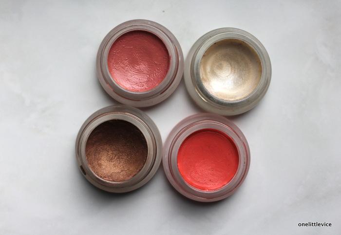 one little vice beauty blog: lip2cheek lip shine living luminizer and buriti bronzer
