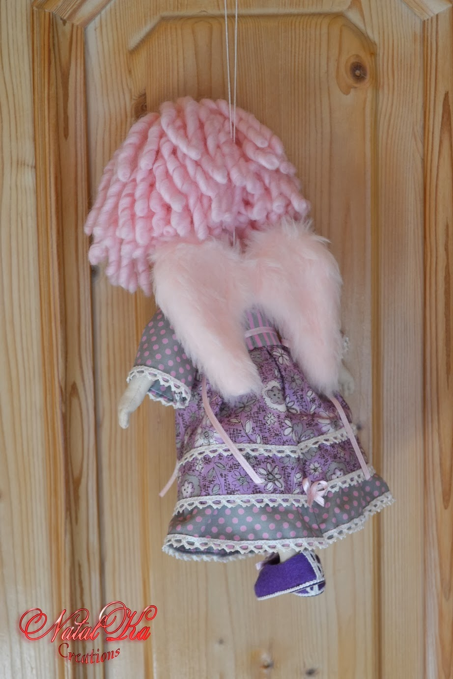 Cloth art doll handmade by NatalKa Creations