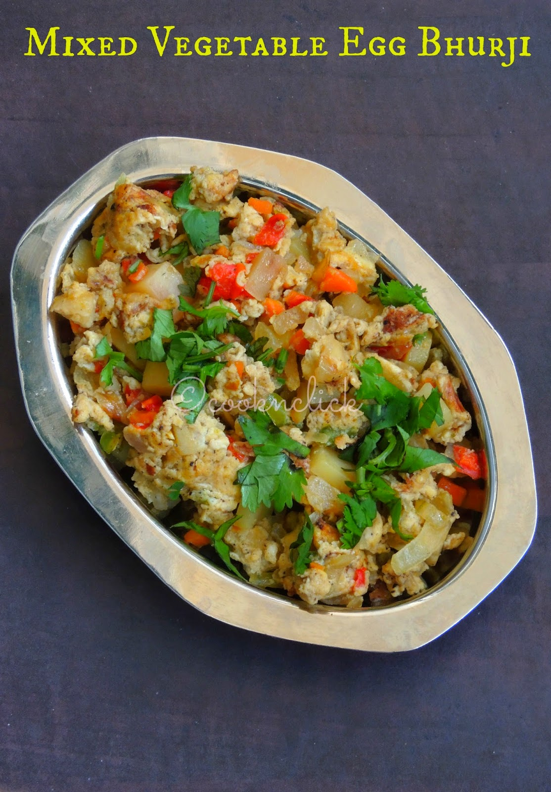Kaaikari muttai masala poriyal, Egg bhurji