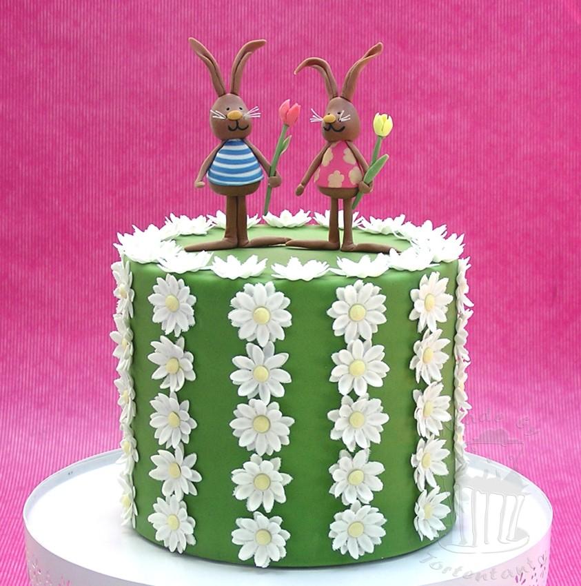 Osterhase Torte Frühling Gänseblümchen rabbit easter spring daisy