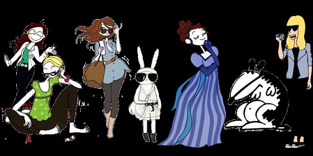 personaggi libro hop fumettato