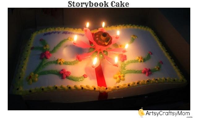 Storybook shaped cake