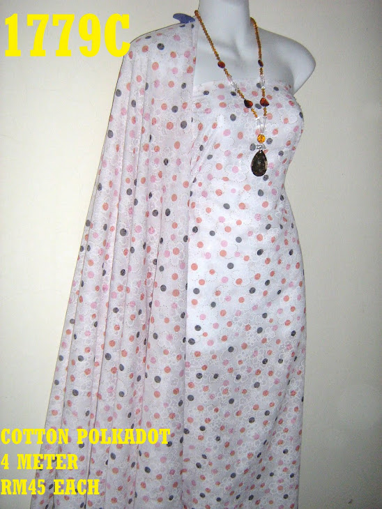 CP 1779C: COTTON POLKADOT, 4 METER
