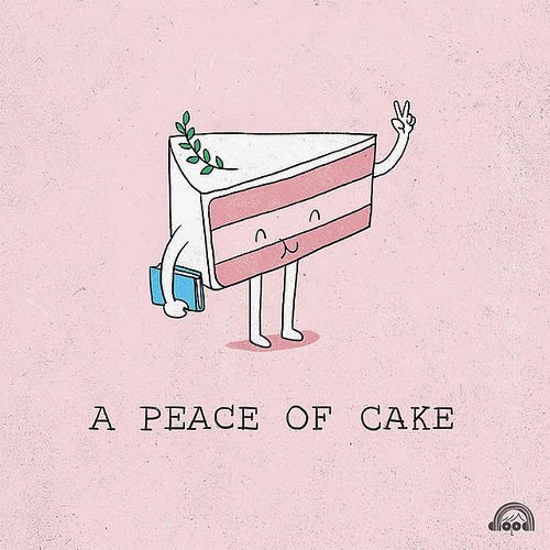 An actual peace of cake...