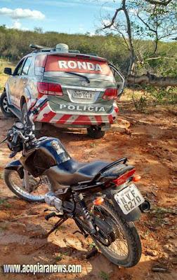Policia de Acopiara recupera moto após assalto em Piquet Carneiro