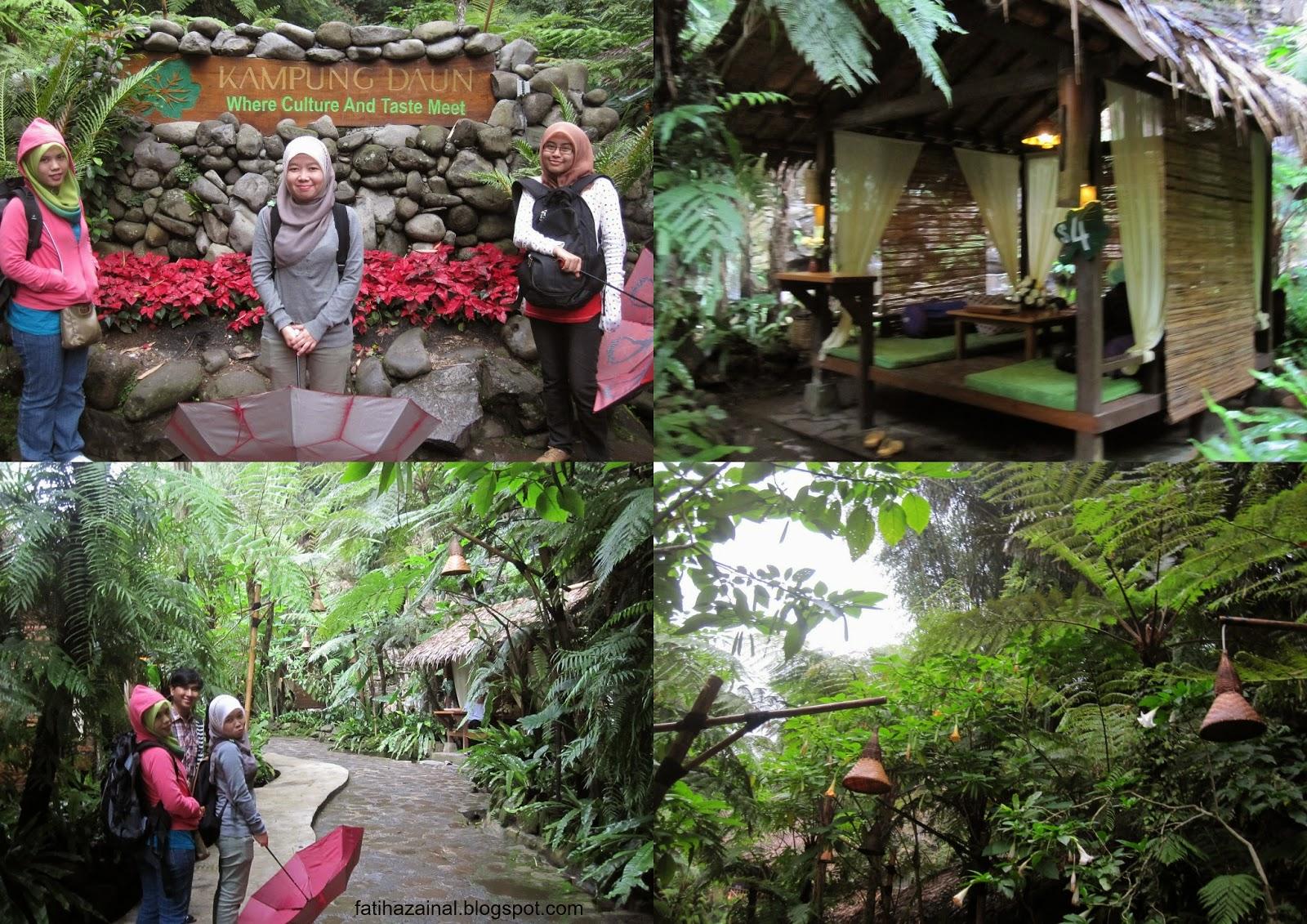 fatiha zainal , kampung daun , tempat makan di bandung