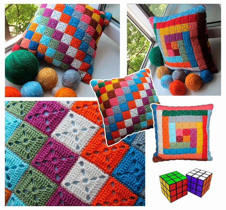 melissa melina crochet coussins aux motifs granny avec leurs grilles gratuites. Black Bedroom Furniture Sets. Home Design Ideas
