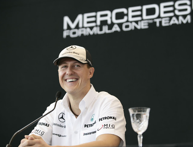 "Seven-time world champion Michael Schumacher announces his retirement from Formula 1, admitting ""we did not achieve our goals"" at Mercedes.The 43-year-old German believes he is ""still able and capable to compete"" against the fastest drivers on the grid but accepts that ""it's good to say goodbye"". The former Ferrari driver tells"
