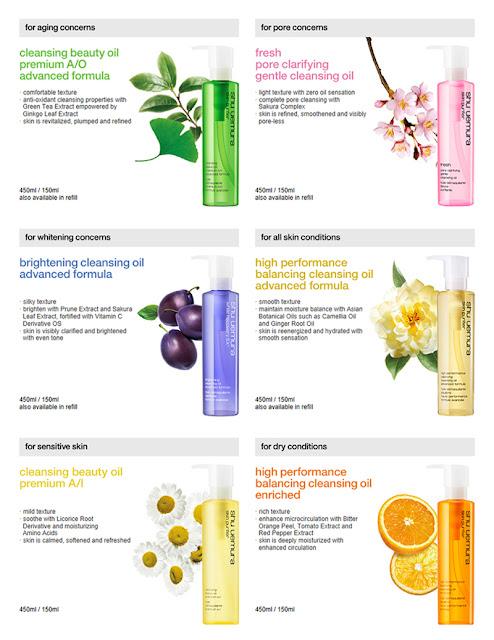Shu Uemura Oils Skin Type
