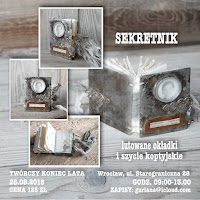 Twórczy Koniec Lata Wrocław SEKRETNIK mini książeczka z lutowanymi okładkami