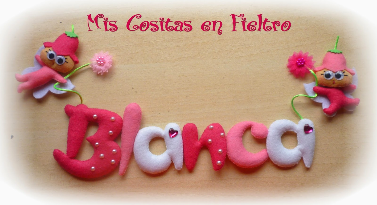 nombre, nombre de fietro, felt name, Blanca, hada, hadas, nacimiento, regalo, bebé, niña, fair