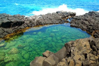Piscina natural Banho da Rainha – Kauai - Havaí