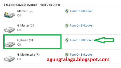 Mengamankan Drive Laptop Dengan Bitlocker