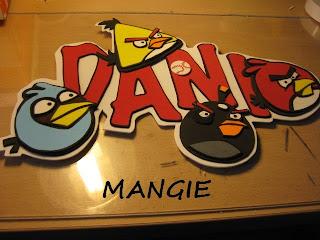 Letrero Angry birds Dani